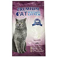 Premium Cat Bentonite Litter 20L Lavender