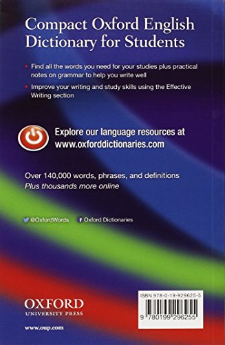 Compact Oxford English Dictionary for Students: For University and College Students - 2