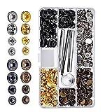 12.5MM 40/80/100/120/140 insiemi/lotto di bottoni in metallo Snap Fasteners fai da te di fissaggio bottoni abbigliamento borse per utensili per cucire Censhaorme