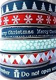 Per il feel di Natale con questi adorabile Festive nastri di gros-grain invernale. La decorazione perfetta per pacchi regalo, biglietti e progetti di cucito.