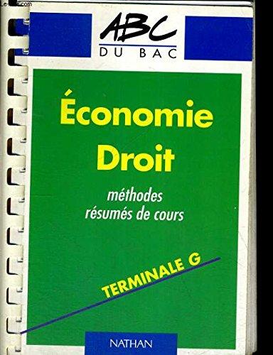 ABC du Bac numéro 622, Economie Droit, terminale STT : cours