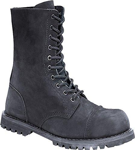 Brandit 10 Loch Stiefel schwarz Nubuk Leder UK6/EU39