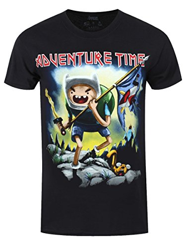 Adventure Time T-Shirt Metal Fantasy Homme Noir