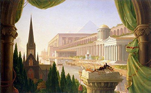 Das Museum Outlet-Thomas Cole-Architects Dream-Leinwanddruck Online kaufen (152,4x 203,2cm)