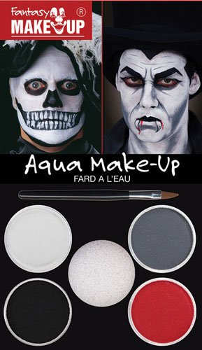 e Up Kit Horror Ghost Zombie Skelett Halloween Kostüm Set (Schädel Make-up Für Halloween)