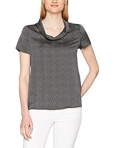 ESPRIT Collection Damen Bluse 057EO1F009 Schwarz (Black 001), 34
