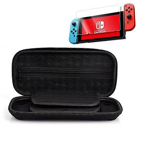 Nintendo-Switch-Box Nintendo-Speicherabdeckung für Reisen und zu Hause Lagerung / Kleinteile Lagerung wie Karte 9H hochwertige Glasfolie LCD-Schutzfolie und Bildschirm Schutz Bord (Nintendo Schalter H