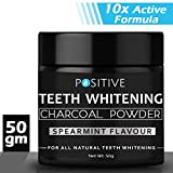 POSITIVE Activated Charcoal Teeth Whitening Powder I Enamel Safe Teeth Whitener | Suitable