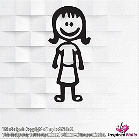 Stick Figure Family Stickers Window Vinyl Wall Decal Art - mum-A by Inspired Walls®