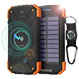 Best Other Solar Iphone Chargers - BLAVOR Wireless Solar Power Bank Charge Bank 10000mAh Review