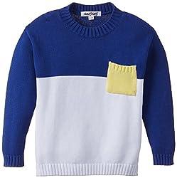 Nauti Nati Girls Sweater (NAW14-806_Blue Ecru_9-10y)