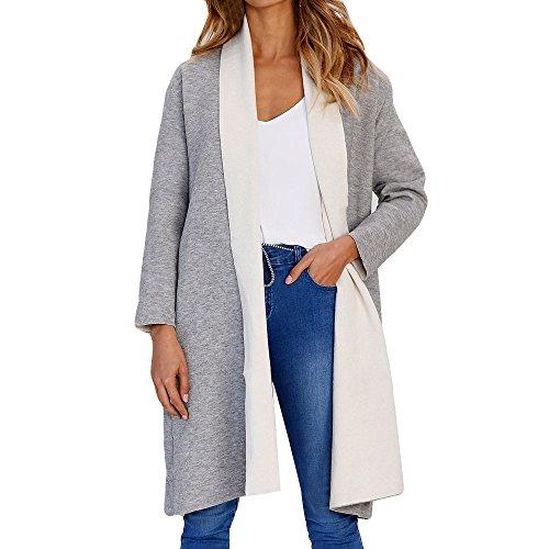 ABsoar Mantel Damen Jacke Dmenmode Cardigan Langarm Pullover Open Cardi Long Top Jacket Coat Outwear