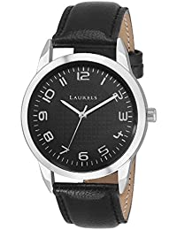 Laurels Black Color Analog Men's Watch With Strap: LWM-ASP-II-020207