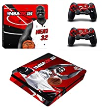 Hytech Plus NBA 2k18 Theme Sticker For PS4 Slim Console & 2 Controllers