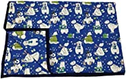 BLOCKS OF INDIA Reversible Hand Block Printed Muslin Cotton Dohar/Blanket for Kids (Upto 8 Years) (Blue Bear)