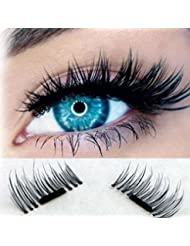Faux Cils 3D Magnétique, Kolylong Vendre! 1 Paire NOUVEAU Ultra-mince 0.2 mm Magnetic Eye Lashes 3D Mink Reusable False Magnet Naturel Faux Cils Parfaits Cils