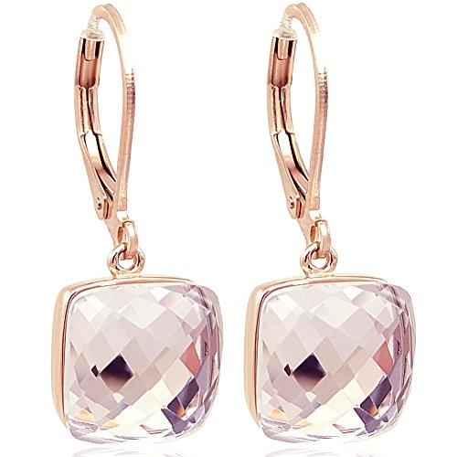 Ohrringe Rosegold mit Kristall von Swarovski® Rosa NOBEL SCHMUCK