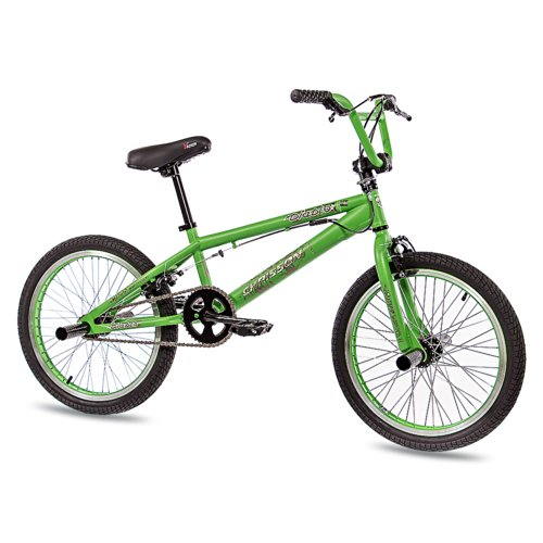 "CHRISSON 20"" BMX Fahrrad Diablo mit 360 Rotor Freestyle grün matt - 50,8 cm (20 Zoll)"