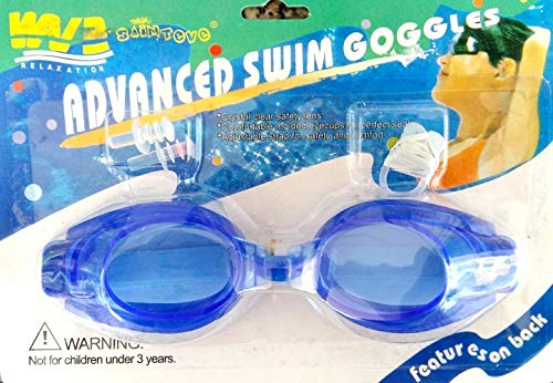 Inception Pro Infinite Schwimmbrille für Erwachsene und Kinder mit Nase und Ohrstöpsel (Blau)