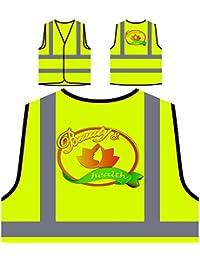 Belleza Y Spa De Salud Chaqueta de seguridad amarillo personalizado de alta visibilidad o687v