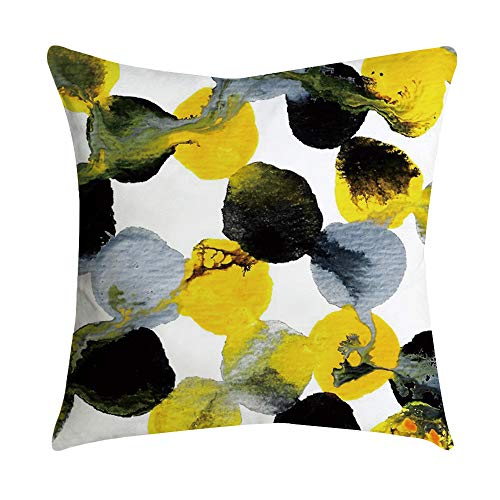 Federe Cuscini Divano Gettare Set di Colore Motivo Geometrico Decorativo Caso Federa per Cuscino Divano Letto Auto, 45 x 45 cm