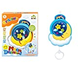#9: Baby Grow Musical Pulling New Born Baby Toys Moon Dreamland (Sky Blue)