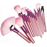 Lychee Beautiful 22pcs Soft Professional Makeup Brushes Cosmetic Make Up Brush Set Kit Foundation with Free Faux Leather Pouch Bag Case (Pink)