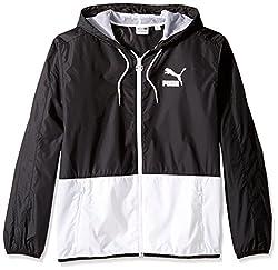 Puma Mens Archive T7 Windbreaker Jacket, Black, XXL