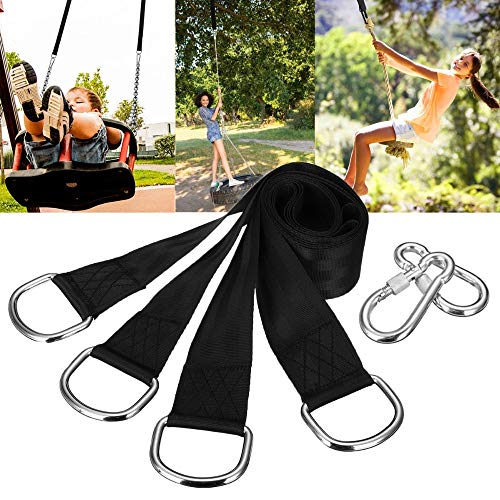 Stillar - Baum-Schwingen Hanging Kit Hammock Straps Set von 2 150 cm extralange Tragkraftt Outdoor Camping Wandern Hammock Gürtel hängend -