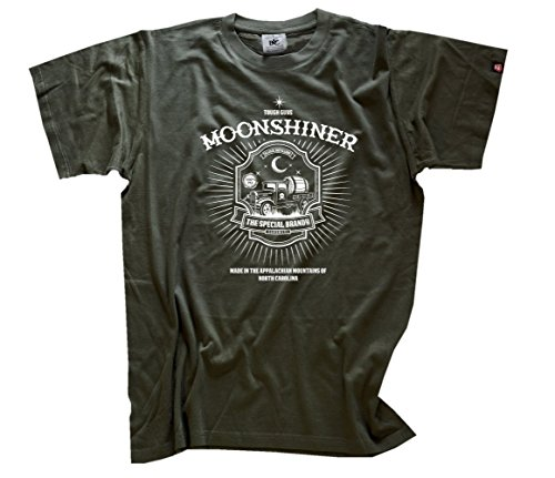 Moonshiner - Rock n Roll und Schnaps T-Shirt Olive L