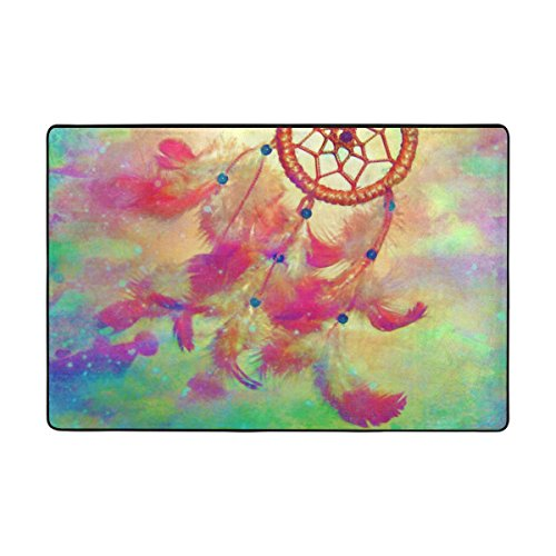 JSTEL ingbags Atrapasueños salón Comedor Alfombra 3x 2pies Cama habitación Alfombra Oficina Alfombra Moderno Piso Alfombra alfombras decoración del hogar, 6 x 4 Feet