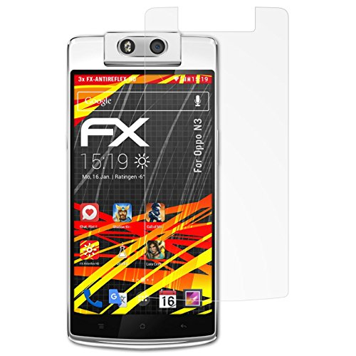 atFolix Schutzfolie kompatibel mit Oppo N3 Bildschirmschutzfolie, HD-Entspiegelung FX Folie (3X)