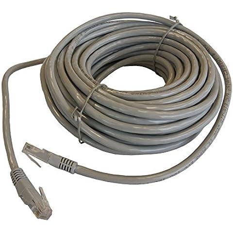 10m–20M Cable de Ethernet Cat5e red LAN RJ45Patch Lead 100% de cobre