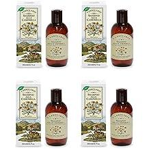 L 'Erbolario–Champú de manzanilla para cabello rubio 200ml–Cabello Rubio y castaño claros–4paquetes