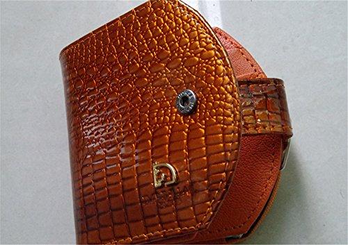 Swallowuk Portafogli In Pelle Delle Donne Fashion Stone Pattern Portafoglio Semicircolare (Blu) Oro