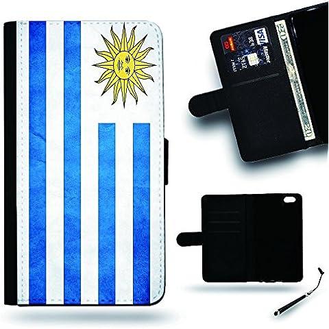 Per Cellulare Negozio//2016Coppa Coppa del Mondo Case Cover Protezione Completa Custodia a portafoglio in pelle Slot per Apple Iphone 6Iphone 6s iPhone6/iphone6s/Uraguay Bandiera Grunge carta