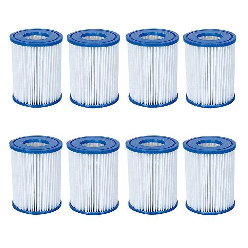 8 Stück Bestway Filter Kartuschen für Pool Swimmingpool Pumpen Bestway / Gr. 2 (Lauter Höhen Die Werden)