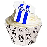 Pack of 12 - Pre-Cut Edible Brighton and Hove Albion deocrations 201-181