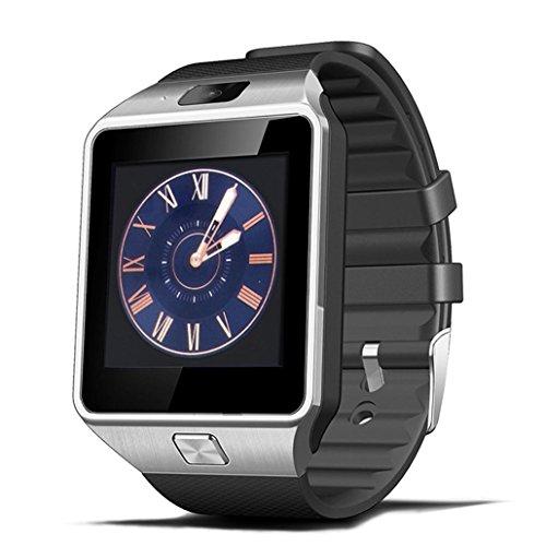 Bluetooth Android Smart Watch, Zamak Bluetooth Smart Handy Uhr mit SIM Karte TF Card Slot Kompatibel mit Alle Android Smartphones - Mit Sim-karten-slot Iphone 4s