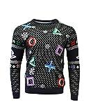 PlayStation Symbols - Black Xmas Pullover Size M