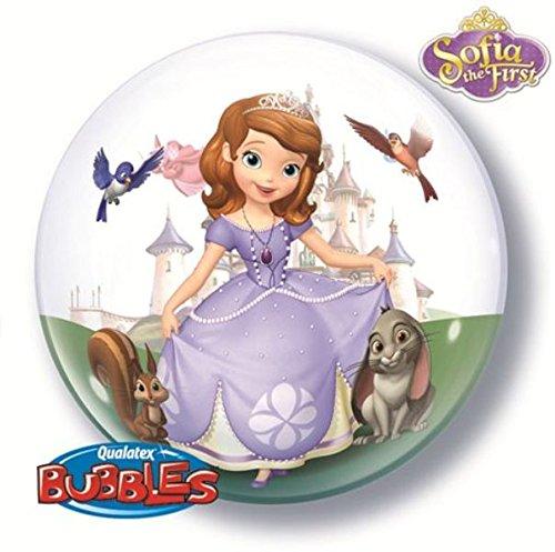 Qualatex 166.565,6cm Single DN Sofia die Erste 2,5cm Bubble Ballon, 22 (Sofia Die Erste-ballon)