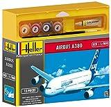 Heller 124.650,5cm Airbus A380Premier Vol, modellino, Scala 1: 800