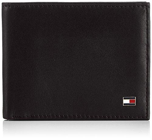 Tommy Hilfiger ETON MINI CC WALLET BM56924739 Herren Geldbörsen 11x9x2 cm (B x H x T) Schwarz (BLACK 990)