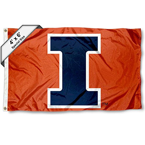 4' X 6' Polyester (Illinois Fighting Illini 4 'x6' Block I Flagge)