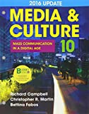 Loose-Leaf Version for Media & Culture with 2016 Update: An Introduction to Mass Communication