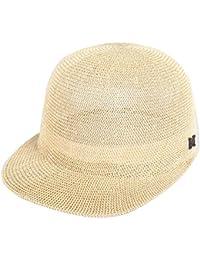 TYGRR Chapeau de paille pliable féminin UPF 50+ Chapeau de soleil Chapeau de plage d'été Anti-UV