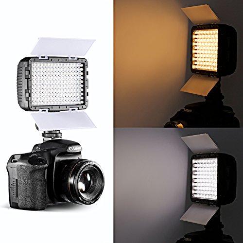 Neewer® OE-160C 160 Pezzi 3200-5600K LED Regolabile Alette Paraluce Barndoor su Fotocamera Video Luce per Canon,Nikon,Pentax,Panasonic,SONY,Samsung,Olympus e altre Fotocamere Digitale SLR