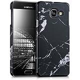 kwmobile Étui rigide Design marbre pour Samsung Galaxy A3 (2016) en noir blanc