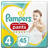 Pampers Premium Protection Pants Größe 4 (9-15 kg), 45 Windeln , 2er Pack
