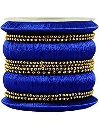 Kalyani Covering Blue Thread Metal Bangle Set For Women & Girls